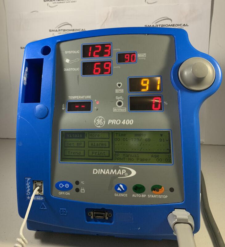 GE Dinamap PRO 400 Vital Signs Monitor NIBP, Temp, Printer