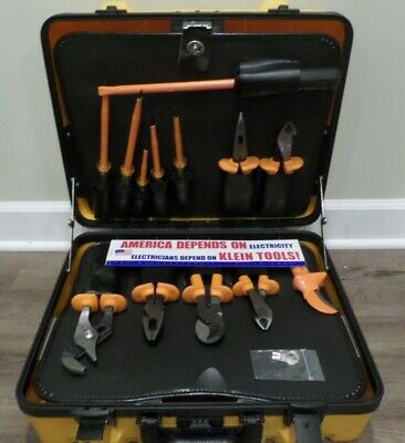 Klein Tools 1000v Insulated Utility Tool Kit 13 Pc W Case Nfpe-70e Pliers 33525
