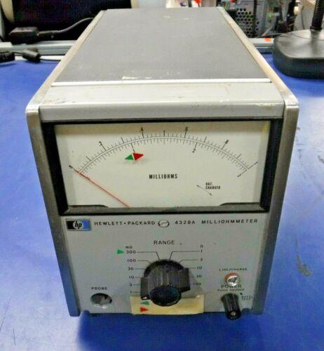 Hewlett Packard Yokogawa 4328A Analog Milliohmmeter w/ Option 01 (115V)