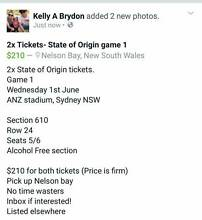 2X STATE OF ORIGIN GAME ONE TICKETS! Nelson Bay Port Stephens Area Preview