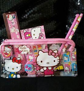 New Hello Kitty Children Pencil Case Stationary School Set