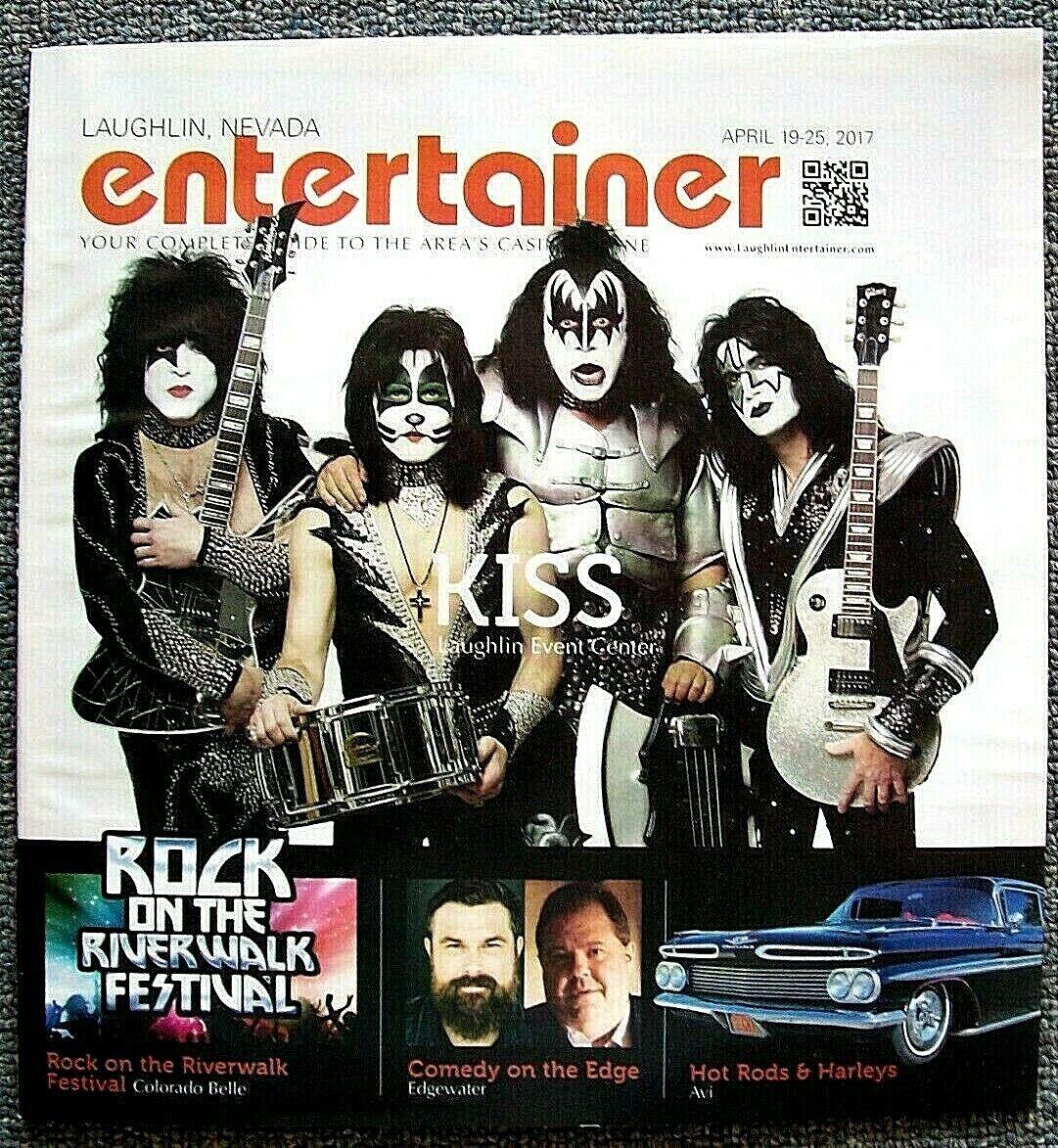 KISS Gene Simmons Rare ENTERTAINER MAGAZINE Laughlin NEVADA April 2017 Last One  - $7.95
