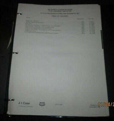 Case 580 Super K Loader Backhoe Troubleshooting Schematic Set Manual Original