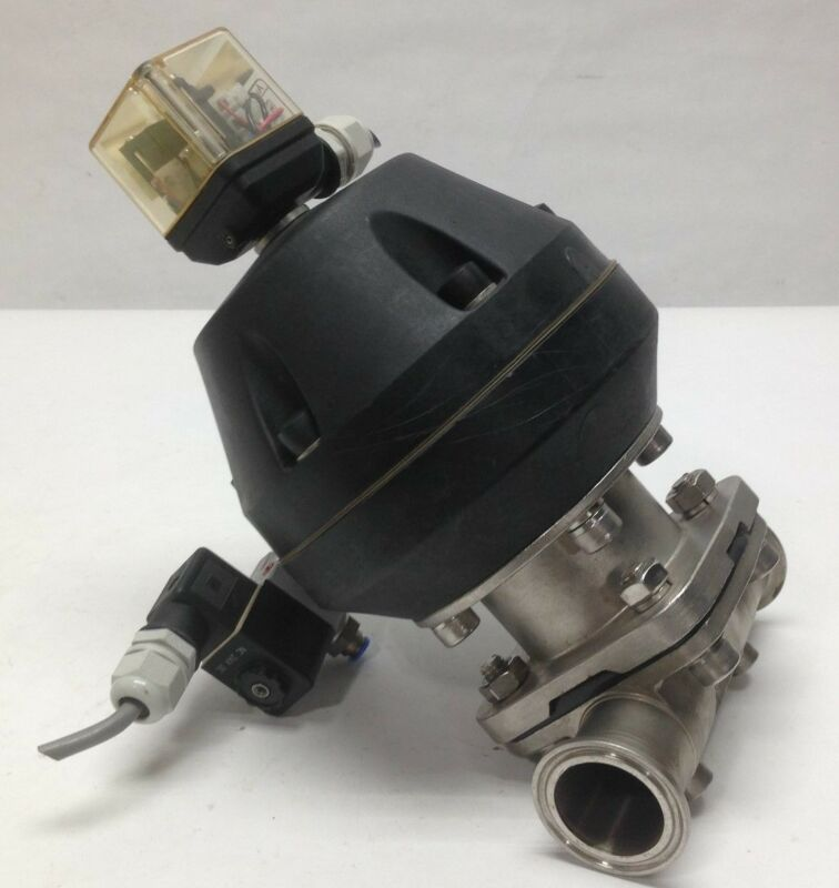 Gemu 687 40D88C15E1 Pneumatic Diaphragm Sanitary Valve Stainless SS Indicator