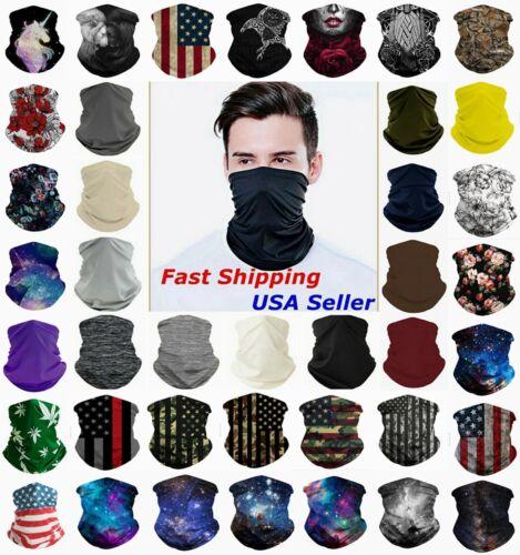 Face Mask Balaclava Tube Bandana Cover Snood Neck Gaiter Scarf Reusable Washable