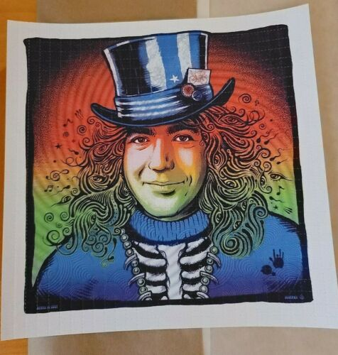 Captain Trips BLOTTER print by Zoltron Jerry Garcia Bicycle Day 2021 poster