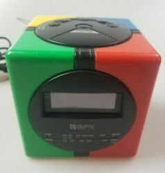 GPX Gran Prix Model D530 Digital Alarm Clock Radio AM FM Multi Color 1980's