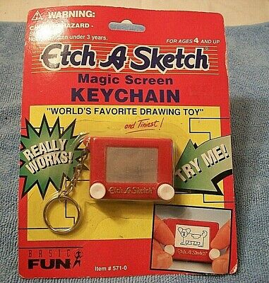 Etch A Sketch Key ring / Key Chain Toy Retro Mini Shake To Erase Ohio Art