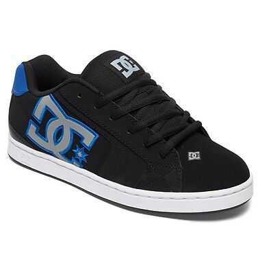 Mens Dc Net Skateboarding Shoes Nib Black Armor Royal      Kay