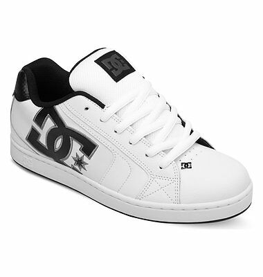 Mens Dc Net Skateboarding Shoes Nib White Battleship White     Hbw