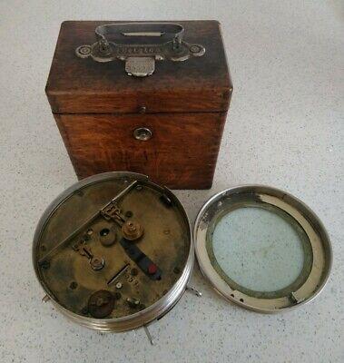 Vintage Josef Dusesoi 15598 Belgica Racing Pigeon Clock In Wooden Case
