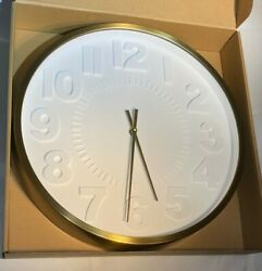 (Large) 16″ Wall Clock, Raised Number - NEW - 792684973151 - Project 62