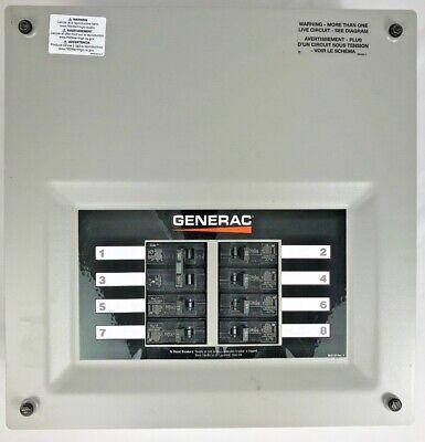 Generac Transfer Switch Panel Ok7618b 8 Circuit 50 Amp 120240v