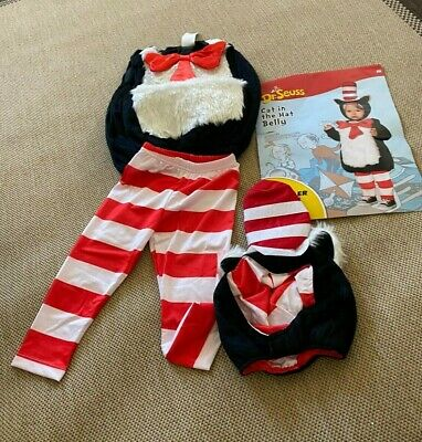 dr seuss cat in the hat toddler halloween costume 2T-4T by spirit