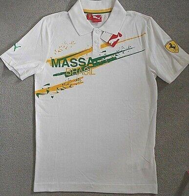 Ferrari Polo Shirt Felipe Massa Puma Brazil Official New With Tags