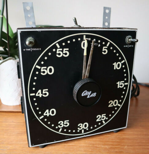 Gra Lab Model 300 Darkroom Timer With Glow In The Dark Dial, Tested & Works!