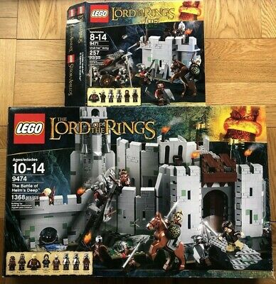 Lego Lord Of The Rings 9474 And 9471 Helm's Deep Box and Instructions Only LOTR