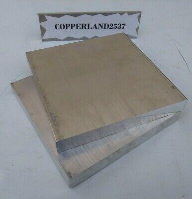 2 Pc 6061 Aluminum .5 X 4 X 4 Long New Solid Plate Flat Stock Bar Block 12