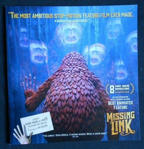 "MISSING LINK FYC PROMO BOOKLET ""The making of"""