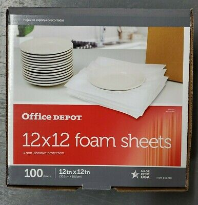 100pcs Cushion Foam Sheets 12 X 12packing Supplies Moving Safely Wrap Dishes