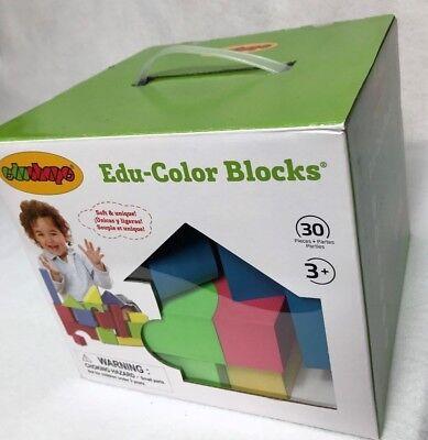Edushape Educolor Blocks - edushape Educolor Building Blocks 30 Pieces NEW in Box