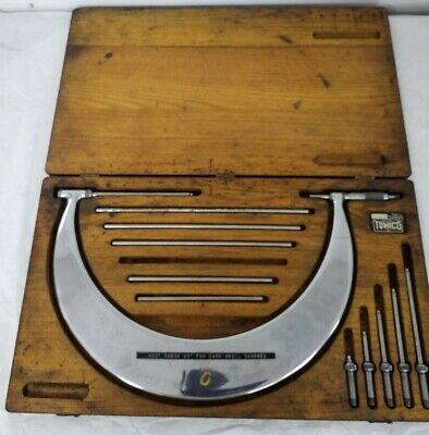 Tumico Tubular Anvil Micrometer 6-12 Inside Wooden Latching Box