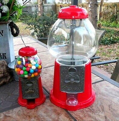 Small & Large CAROUSEL 1985 GUMBALL MACHINE (S) 89- P 06178 & 05 King 016134