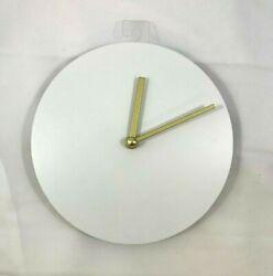 8 Diameter Modern Blank Simple Round Wooden Wall Clock - Wall Art Wood Grain