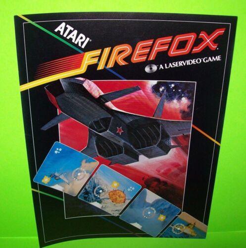 Atari FIREFOX Arcade FLYER Original 1983 NOS Laser Game Video Promo Artwork
