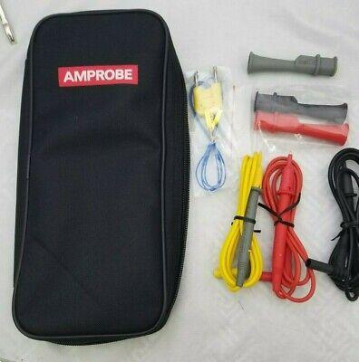 Amprobe Tl-300 Test Lead Set Walligator Clips Case Thermocouple