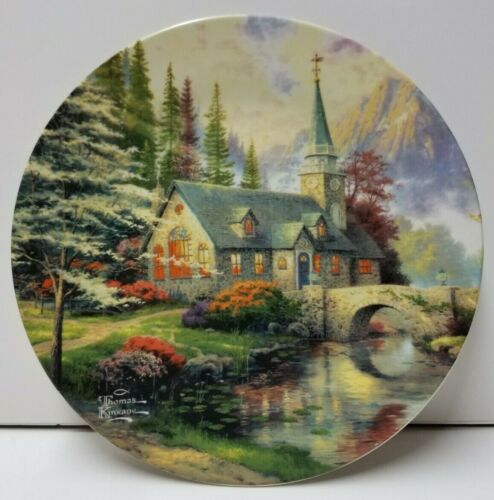 "Maud Borup 9"" Plate- Thomas Kinkade, Dogwood Chapel, Excellent condition"