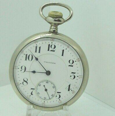 1901 Waltham Model 1892 21j 18s Grade Crescent St. Open Face Pocket Watch