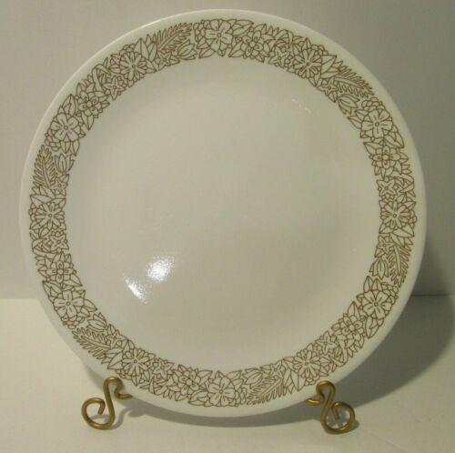 "Vintage Corelle 3 Dinner Plates Woodland Brown White floral 10-1/4"" (21-11)"