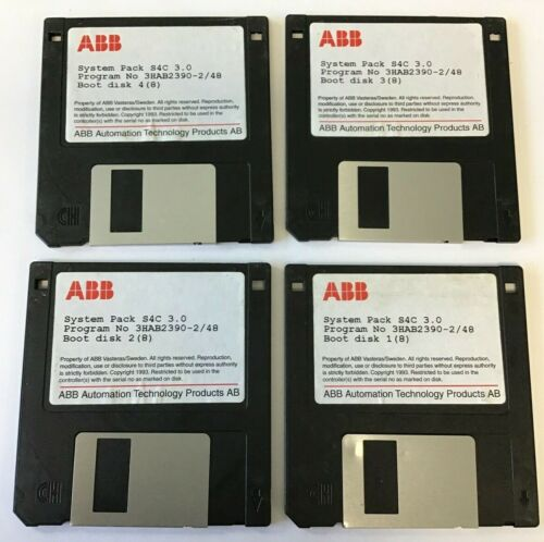ABB SYSTEM PACK S4C 3.0 PROG.# 3HAB2390-2/48 BOOT DISCS 1-4