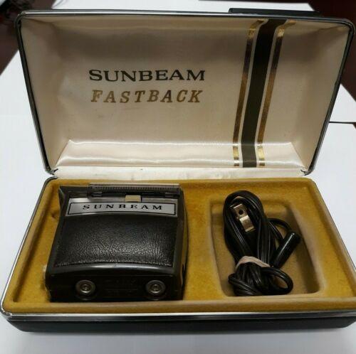 Vintage Sunbeam Fastback Electric Razor Shavor with Case