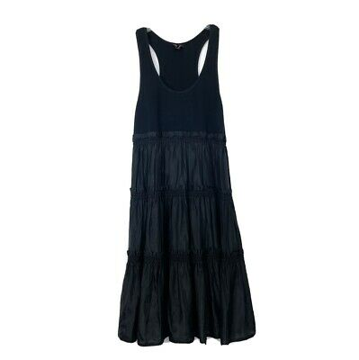 New $275 Betsey Johnson Size Large Black Tiered Casual Dress Knee Length Stretch