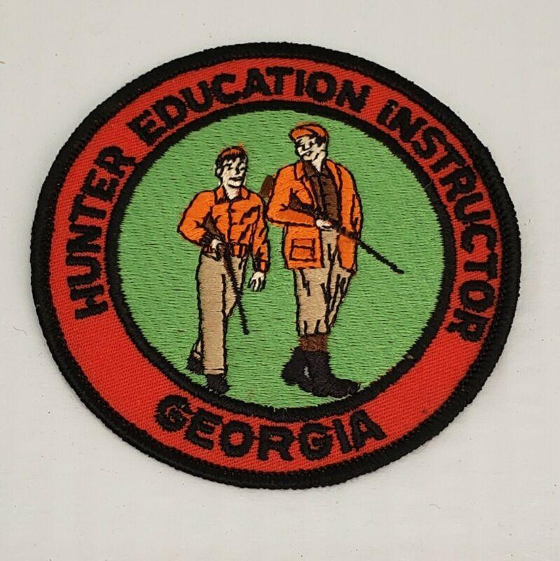 "Georgia  ""Hunter Education Instructor"" 4"" Patch, Black Border Rare Collectible"