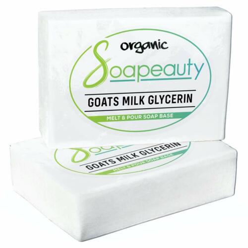 GOATS MILK GLYCERIN MELT & POUR SOAP BASE ORGANIC NATURAL