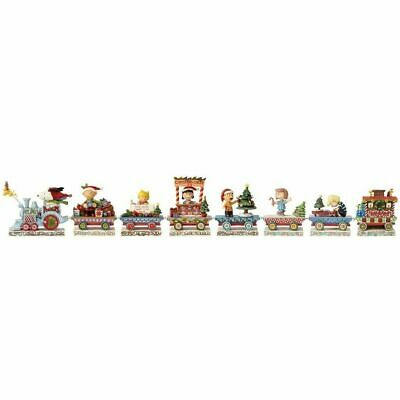 Jim Shore PEANUTS CHRISTMAS TRAIN 8 PC SET 4062623 INCLUDES SALLY AND WOODSTOCK!