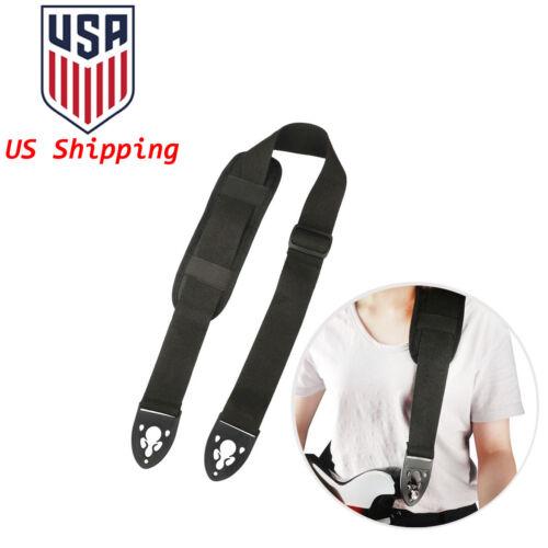 Fashion Poly Guitar Strap Belt w/ Shoulder Pad Lock End for