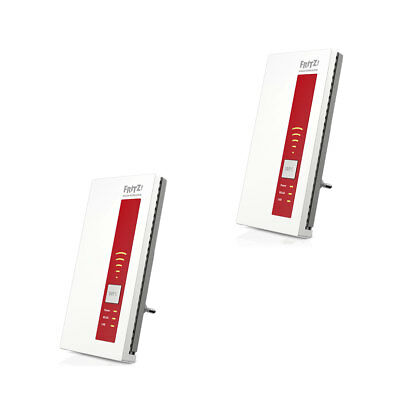 2x AVM FRITZ!WLAN Repeater 1750E Dual WLAN AC + N 1300 Mbit/s Extender LAN