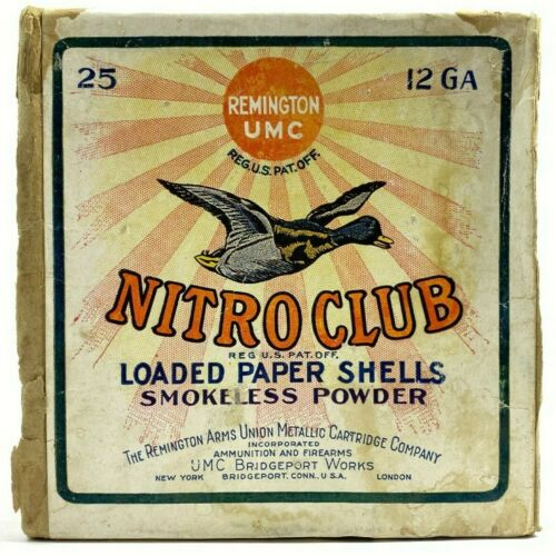 Remington Nitro Club Duck & Goose 12 Ga EMPTY 2 Piece Ammo Box 5710-LXX