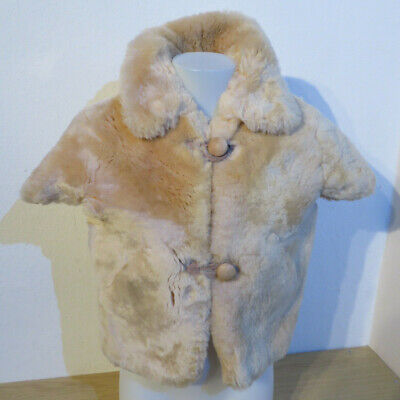 warme Pelzweste Gr. 134 beige Mädchen Kleidung Weste Jacke Fellweste (Imitat) ()