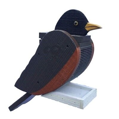 Hanging ROBIN Shaped Bird Feeder & Clean Out-  Amish Made in USA