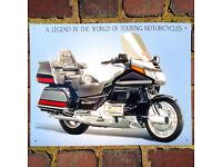 Honda Goldwing Motorcycle Bike Metal Wall Sign Plaque 300*410mm 50924