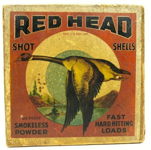 Redhead Reliance Flying Goose Montgomery Ward 12 Ga EMPTY  Ammo Box 5510-MOR