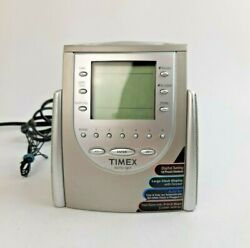 Timex Nature Sounds Alarm Clock Radio AM/FM Battery Backup Model T311T (TESTED)