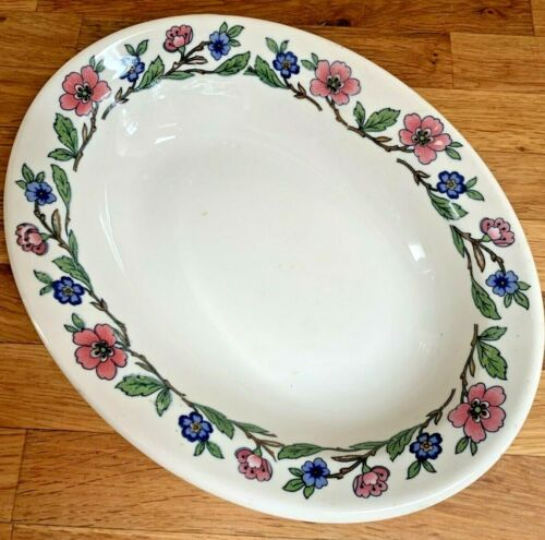VTG Sterling Vitrified China Serving Bowl 1950s Floral