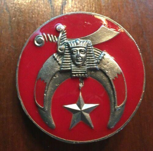Murat Shriner Belt Buckle Free Mason Sword Sphinx 5 pointed Star Crescent Moon