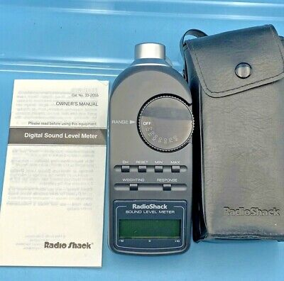 Radio Shack Digital Sound Level Meter Tester 30-2055 With Case Manual